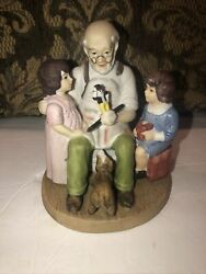 Norman Rockwell The Toy Maker Figurine Replica Limited Edition Sterling Treasury