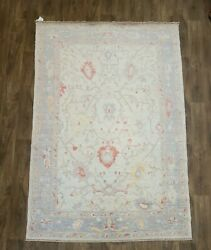 Hand Knotted Beautiful Angora Turkish Wool Rug Size 6and039x9and039 100 Pure Wool
