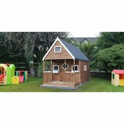 Two Tier Playhouse - Kids Playhouse Outdoor Toys Garden Games Playhouses