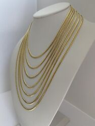 14k Solid Yellow Gold Real 4 Mm Miami Cuban Link Chain Necklace--ag14c674y