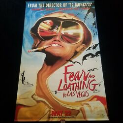 Fear And Loathing In Las Vegas Original Movie Theater Banner 1998 4and039x6and039