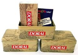 1996 Collector's Edition Doral Cigarettes Advertising Tobacco Tin W/ Matches Lot