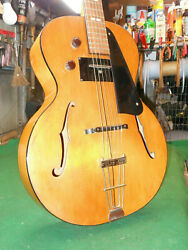 1930s Rare Recording King By Gibson Archtop Acoustic Guitar Square Pick-up