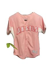 Pink Rare Breast Cancer Awareness Mike Trout Jersey Size M,angels, Baseball, Mlb