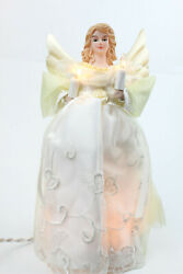 Gold and Ivory Angel Light Up Christmas Tree Topper with 10 Lights UL1076 New $20.69