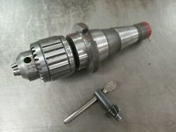 Used Jacobs 11n Ball Bearing Drill Chuck W/ Nmtb-40 Arbor And Chuck Key Dp