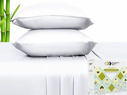 100 Natural Bamboo Sheets - Silky Soft Touch Hypoallergenic Cool And Breathab