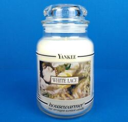 Yankee Candle Housewarmer White Lace 22 Oz. Very Rare Retired Black Band New