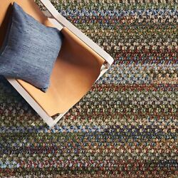 Capel Rugs Habitat Chenille Polyester Braided Rectangle Rug Multi Colored 930
