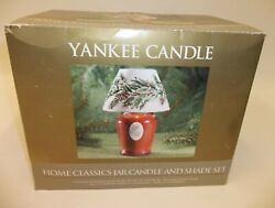 New Yankee Jar Candle amp; Shade Set Christmas Winter Holiday Holly Berry MIB