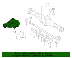 Oem Toyota Tundra 2005-2006 Rear Differential Assembly 11 In Diagram Only