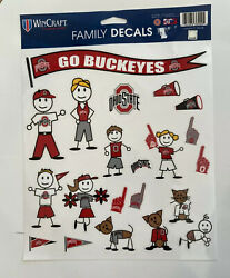 OHIO STATE BUCKEYES Family DECALS WINDOW CLINGS 21 PER SHEET