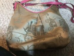 Coach Tan And Pink Bucket Bag Beautiful $22.00