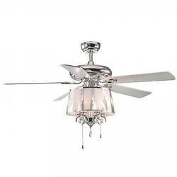 52 Rigel 5 Blade Chandelier Ceiling Fan With Pull Chain And Light Kit Included