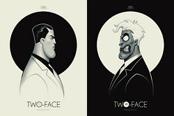 Batman Tas Two Face Double-sided Poster Mondo Pcc Sdcc - Xx/225 - Ships Next Day