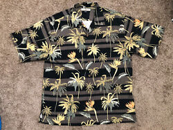 Tommy Bahama Mens Shirt Size L 100% Silk Button Down Short Sleeve Tropical Relax $27.99