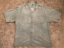Tommy Bahama Mens Shirt Size L 100% Silk Button Down Short Sleeve Relax $23.99