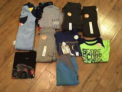 Nwtboys Size 4 / 4t Clothes 10 Pc Lotfall / Wintercarter's, Jammies + More