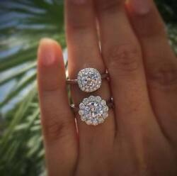 2.50 Ct Round Cut White Stone Solid Engagement Gifts Rings In 925 Silver