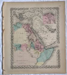 Antique Atlas Map Africa North Eastern Sheet, No 34, 1855 Colton World Maps +