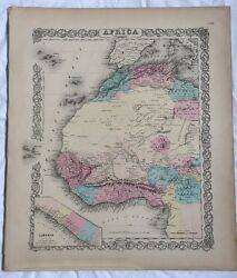 Antique Atlas Map Africa North Western Sheet, No 35. 1855 Colton World Maps +