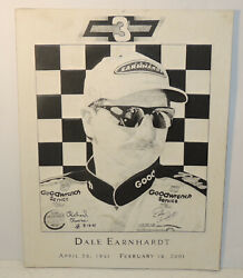 Dale Earnhardt Andbull Picture Andbull Art Andbull Embossed Andbull Unique Andbull 8.5x11