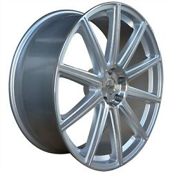 4 G42 22 Inch Silver Rimss Fits Chevy S10 4wd Zr2 2000 - 2002