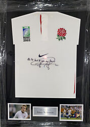 Signed Framed Retro Jonny Wilkinson England Rugby Home Shirt 2003 World Cup