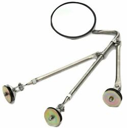 Gg Tripod Fender Mount Bracket And Mirror 8.5 Convex Stainless Steel 33325 Each