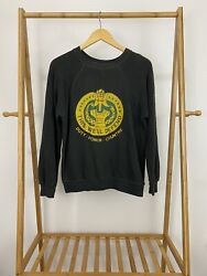 Vtg 80s Drill Sergeant Crest This We'll Defend Sun Faded Soft Army Sweatshirt L