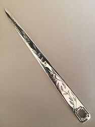 And Co Raresterling Silver Bamboo Pattern Letter Opener