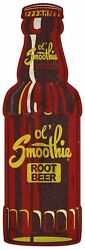 3 Ol Smoothie Root Beer Bottle Shape Heavy Duty Usa Made Metal Store Adv Sign