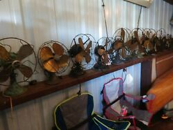 Antique Fan Collection Lot Of 14 Westinghouse Emerson Victor Century Ge Brass