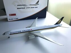 Rare - Singapore Airlines 777-300er 1200 - 9v-swr - Jc Wings Discontinued