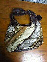 Chateau Brown Hobo Double Handle Ladies Hand Bag $4.99