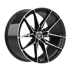 4 Hp1 22 Inch Black Machined Rims Fits Chevy Van G10 Express 1500 2wd 2000-2002