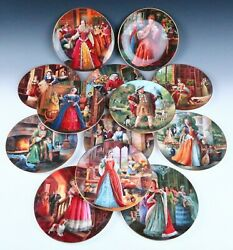 Complete Set 13 Royal Doulton Henry Viii And Wives Queen Victoria Anne Mary Plates