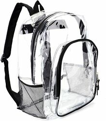 Heavy Duty Transparent Clear Backpack See Through Backpacks for School Fashion $23.99
