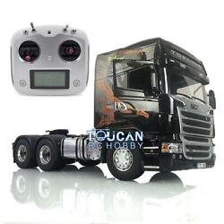 Lesu 1/14 Rc Gripen Tractor Truck Radio Rc 64 Metal Chassis Light Sound Scania