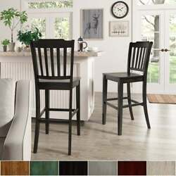 Eleanor Slat Back Bar Height Chairs Set Of 2 By Inspire Q Classic