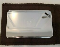 Christofle Silver Luggage Tag From The Mark Hotel - New With Pouch