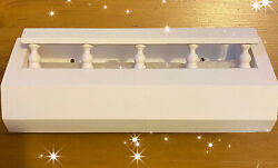Vintage Homco Wood Shelf Wall Pocket W Captainand039s Rails Painted White 12.5x5x3.5
