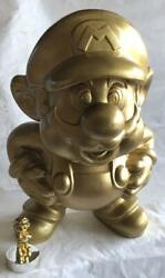 Nintendo Super Mario Gold Big Figure Statue Store Display From Japan Used