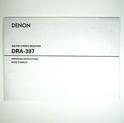 Authentic Official- Denon Dra-397 Receiver Operating Instructions Manual