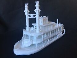 Miniature Ho Scale Old West Steamboat Paddlewheeler Riverboat Built Train Layout