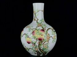 19.2and039and039 China Antique Vase Wucai Porcelain Vase Old Pottery Bottle Peach