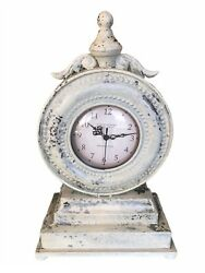 French Country Clock - Provencal Antique Vintage Metal Edwardian Shabby Chic