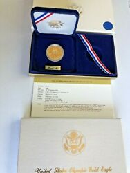 1984-p Proof Olympic 10 Commemorative Gold Coin