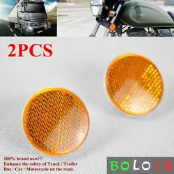2x Motorcycle Truck Trailer Car Round Reflector Tail Brake Stop Light Tag Bolts