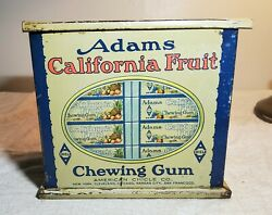 Antique Adams California Fruit Chewing Gum Store Display Tin American Chicle Co.